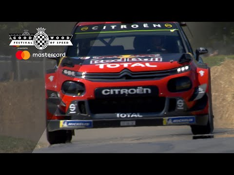 Mads Østberg holds nothing back in C3 WRC FOS show