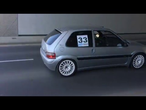 saxo vts 16v tunnel run - exhaust sound / outside cam