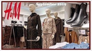 NEW H&M FALL WINTER OUTFITS And LADIES FASHION #September2019