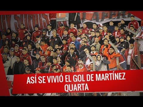 """River vs Aldosivi: Así se vivió el gol de Martínez Quarta"" Barra: Los Borrachos del Tablón • Club: River Plate"