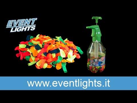 Pompa per palloncini UV Splash - con 250 bombe d'acqua Fluo UV