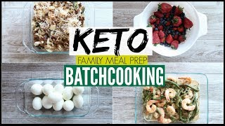 🔥BATCH COOKING LIKE A BOSS ● KETO MEAL PREP FOR THE WEEK ● EASY FAMILY MEAL PREP FOR WEIGHT LOSS