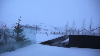 preview picture of video 'Stormy winter weather in Iceland'