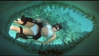 Маска для подводной охоты SeaDive Frameless SeaLite Rayblocker-HD от компании Магазин Calipso dive shop - видео