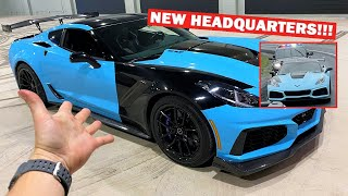 COPS PULLED ME OVER FOR THIS... Ft. The NEW 717 GARAGE!!! *1,000HP ZR1 DONUTS INDOORS!*