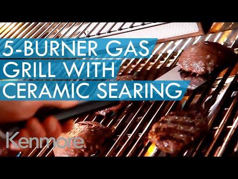 Kenmore Elite 5 Burner Gas Grill