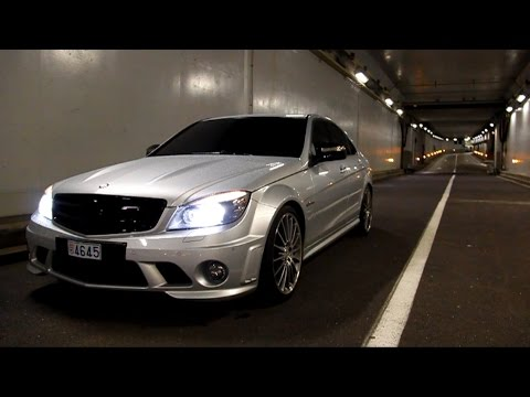 Outrageous Mercedes C63 AMG Sound, Revs, Ride..