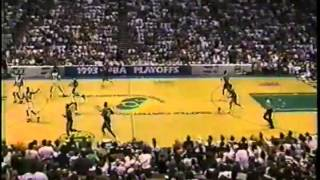 Remember The Sonics: Amazing 2nd Half vs Utah Jazz (1993 WCR1 Game 5)