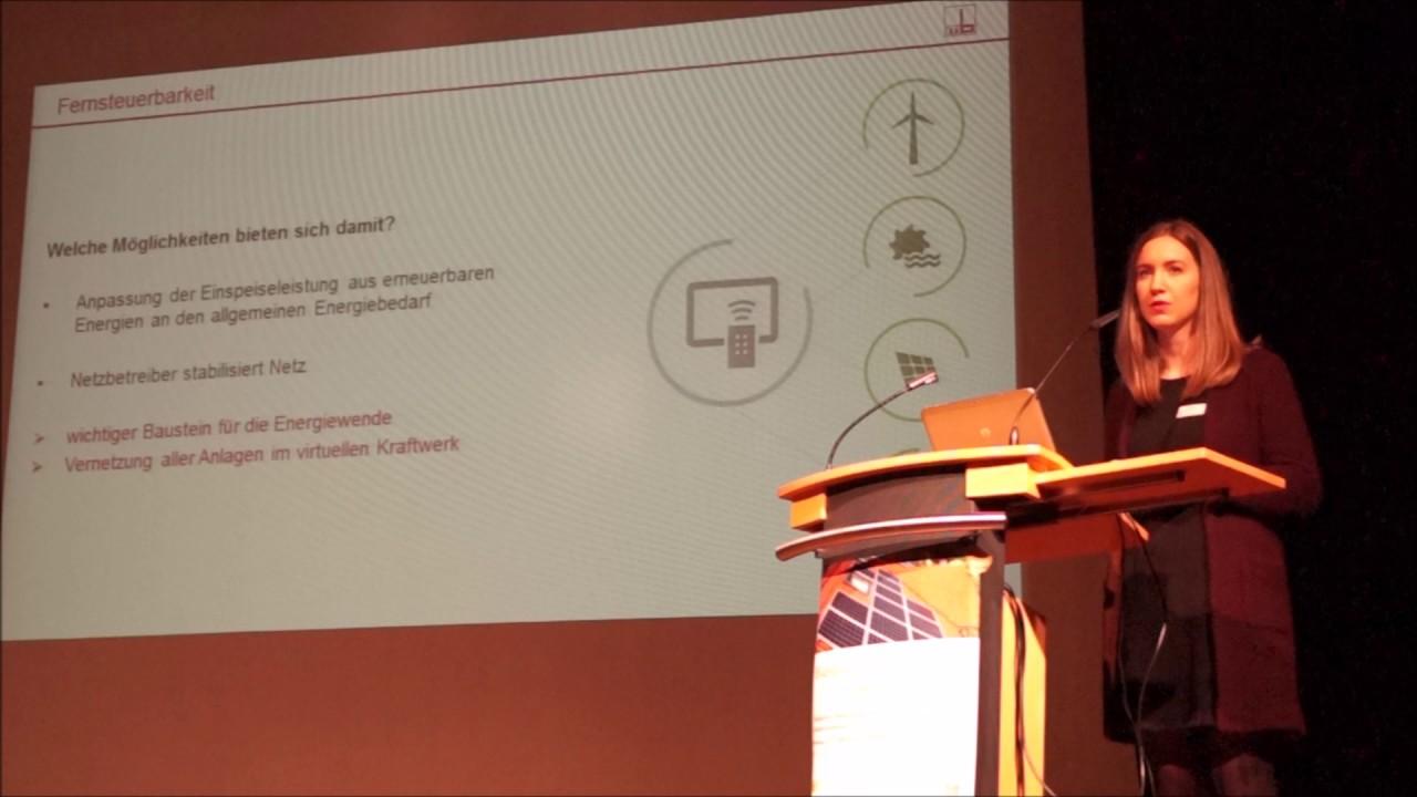 """Teresa Knitl ABSI Kongress 2017 """"Strommarkt 4.0 – Erneuerbare Energien effizient am Strommarkt platzieren"""" (Videos von Daniel Bannasch)"""