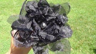 DIY: Fabric Flowers.... Heat Gun Vs. Organza!
