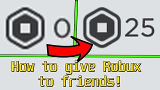 How To Donate Robux To Your Friends How To Give Robux In A Group