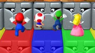 Mario Party 10 - Minigames - Peach vs Mario vs Luigi vs Toad
