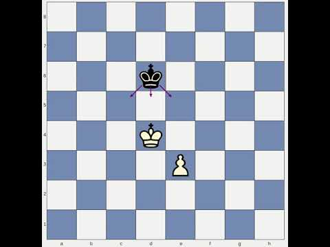 Chess lesson: King and Pawn versus King; Lesson One