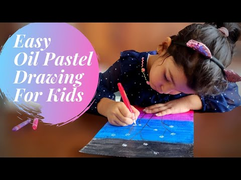 Easy Oil Pastel Drawing for Kids
