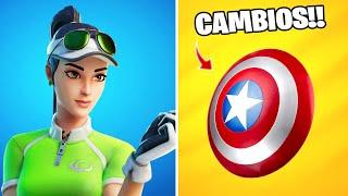 *CAPITÁN AMÉRICA* TODOS LOS CAMBIOS PARCHE 13.20!! Fortnite: battle royale (Nueva Actualización)