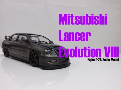Fujimi Mitsubishi Lancer Evolution VIII 1:24 Scale Model build