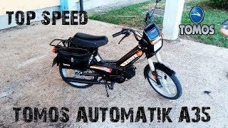 Tomos A35 -TEST - REVIEW (MAX SPEED) - English subtitles
