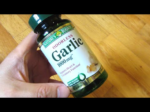 Video Nature Bounty Odorless Garlic Pills