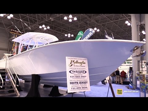 2015 Yellowfin 39 Fishing Boat – Walkaround – 2015 New York Boat Show