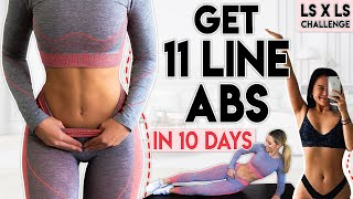 GET 11 LINE ABS in 10 Days | 6 minute Workout (Linda Sun Challenge)