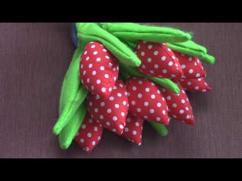Тюльпаны из ткани своими руками\обзор на готовую работу \поздравление с 8 марта.
