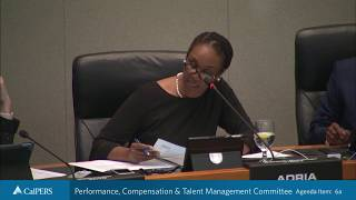 Performance, Compensation & Talent Management Committee on December 18, 2018