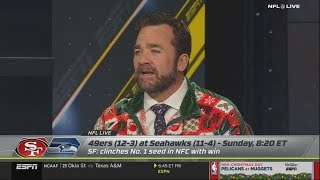 Jeff Saturday on Jimmy Garoppolo or Russell Wilson; 49ers vs Seahawks?