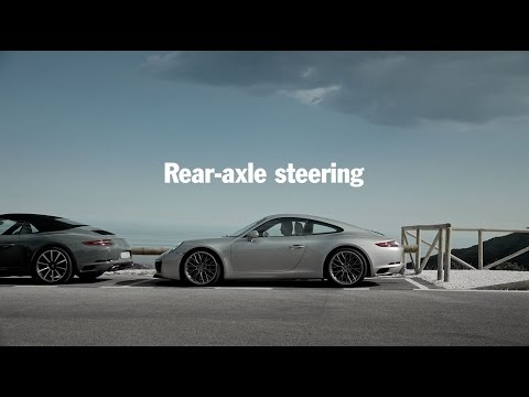 ¿Cómo funciona la dirección del eje trasero de Porsche?
