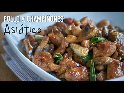 Pollo con champiñones en salsa de ostras - Chicken With Mushrooms in Oyster Sauce
