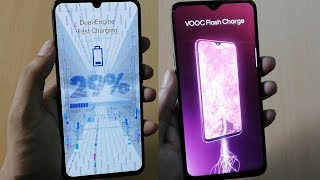 Vivo V11 Pro Dual Engine Fast Charging Vs Oppo F9 Pro VOOC Flash Charge Test