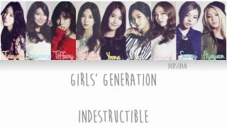 GIRLS' GENERATION (少女時代) SNSD – INDESTRUCTIBLE Lyrics Color Coded [Eng/Kanji/Han]