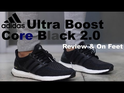 70e5159fc6d96 Adidas Ultra Boost Core Black 2 0 Review On Feet play