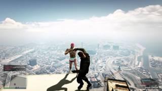 GTA 5 ONLINE драка над городом