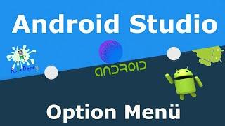 Android studio option menü oluşturma