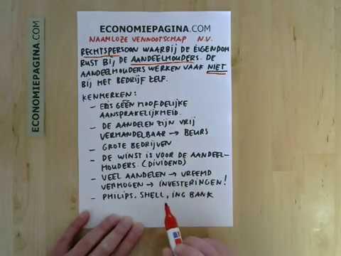 Naamloze vennootschap (NV) (Economiepagina.com)