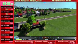 Cities: Skylines World Record Speedrun - All Milestones in 1:11:10.94