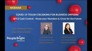 COVID 19 TDBO – EP13 Cash Control – Know your Numbers & Grow for the Future Webinar Recording