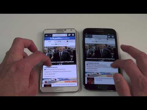 Video confronto: Samsung Galaxy Note 2 vs Galaxy Note 3