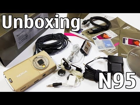 Nokia N95 Sand Unboxing 4K with all original accessories Nseries RM-159 review
