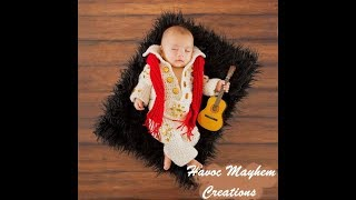 Tutorial How to crochet Baby Elvis Outfit Part 1 size 0-3 months
