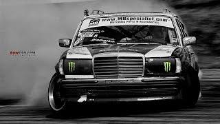 Mercedes Benz w123 TurboDiesel from Hell Burnout & Sideways