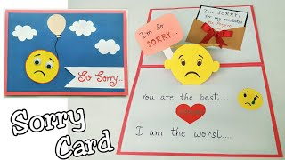 Sorry Card/ Sorry Card for Friend/Pop Up Sorry Card/Handmade Pop Up Sorry Card Making