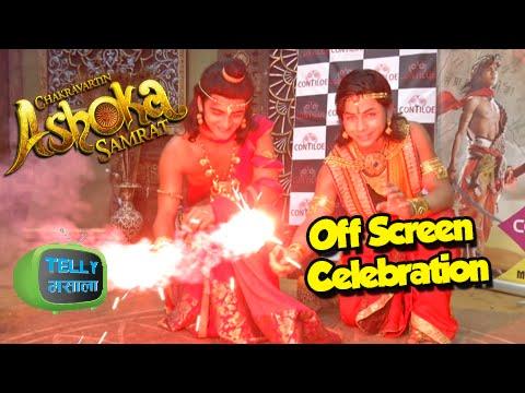 (Video) Diwali Celebrations With Ashoka Aka Sidharth Nigam   Chakravartin Ashoka Samrat   Colors