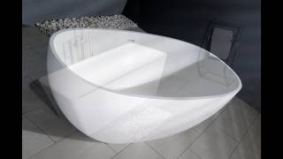 The Kingston Brass Aqua Eden Solid Surface Bathtubs Video