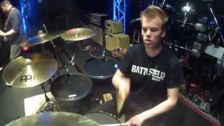 Flowwire - Broken (12 Stones cover) - Drum Cam - Live - Brooks