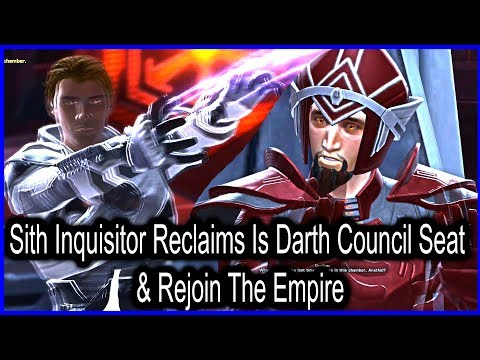 Sith Inquisitor Reclaims Is Darth Council Seat & Rejoins The Empire | SWTOR Onslaught