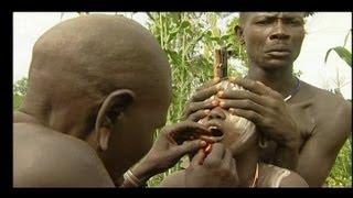 Footage Ethiopia 2. Tribe ritual: Mursi, lip plate