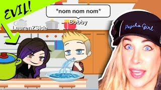 LAURENZSIDE CHEATS ON BOBBY WITH HACKER | Gacha Life Mini Movie | Psycho Girl