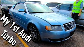 Copart Auction Win #1: Audi A4 Turbo Convertible