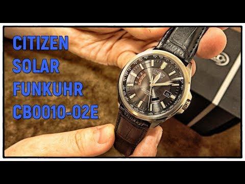 Citizen Solar Funkuhr CB0010-02E | EDC Quarz Uhr Clock Watch Timepiece
